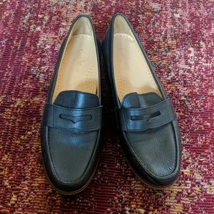 Cole Haan Navy Leather Loafers